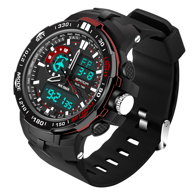 SANDA Military Mens Watches Waterproof Sport Watch Men Multifunctional S Shock Clock Male horloges manne Relogio Masculino 737