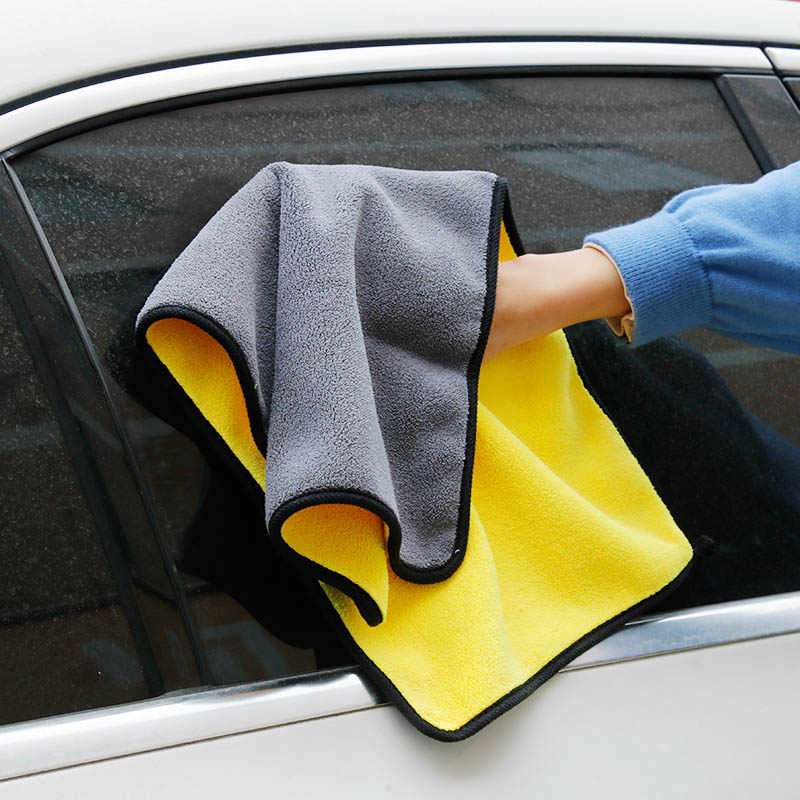 30x30/60 Car Wash Microfiber Towel Car Cleaning Drying Cloth Hemming Car Care Cloth Super Absorbent Car Wash Towel