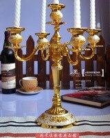 Placcato oro bianco colla speciale offerta Candeliere cinque continentale Candeliere Hotel Arredamento Per La Casa decorazioni di nozze