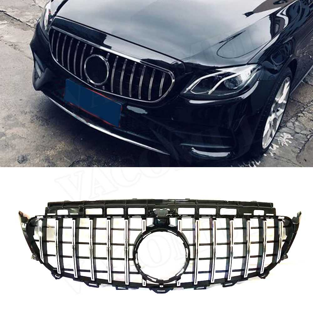 hight resolution of detail feedback questions about e class abs black silver front bumper mesh grill grille for mercedes benz w213 c238 e200 e250 e300 e320 e350 amg 2017 2018