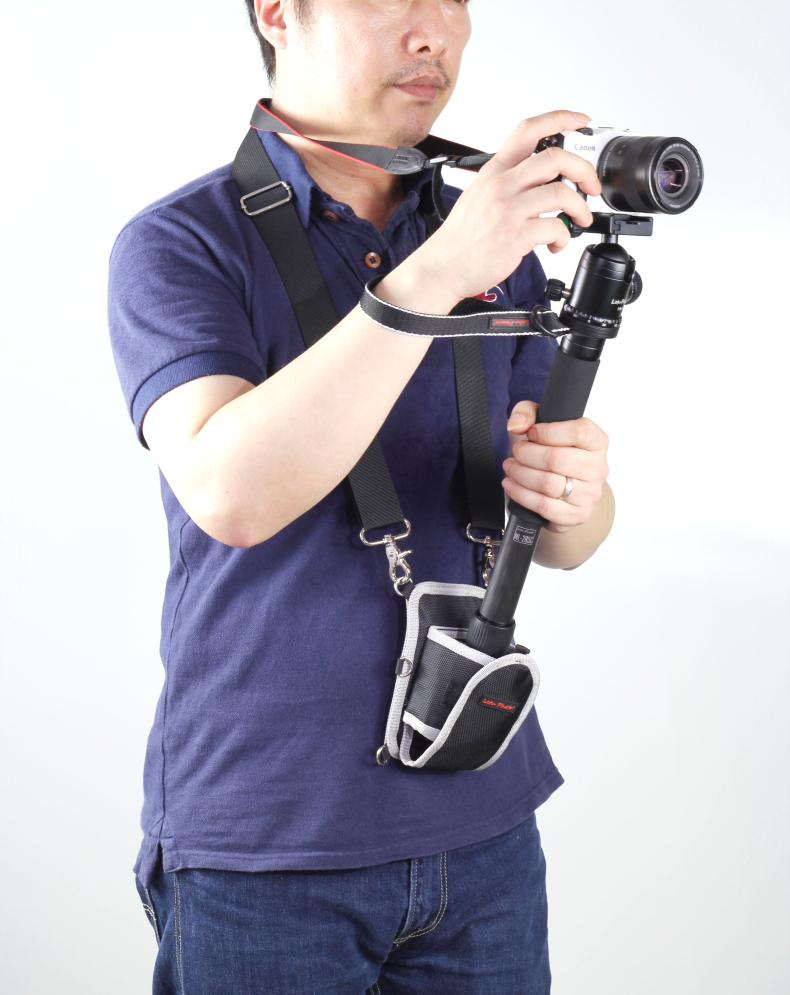 Multifunction Photography Adjustable Camera Waist Belt Sling Bag Case Pouch Tripod Holder Strap