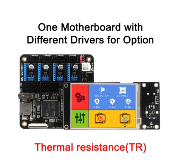 3D Printer Motherboard Lerdge Board with Thermistor ARM 32-bit Controller DIY Kit with 3.5 TFT Touch Screen 3d printer motherboard mks v2 2 robin stm32 integrated board stm32 development board with touch screen