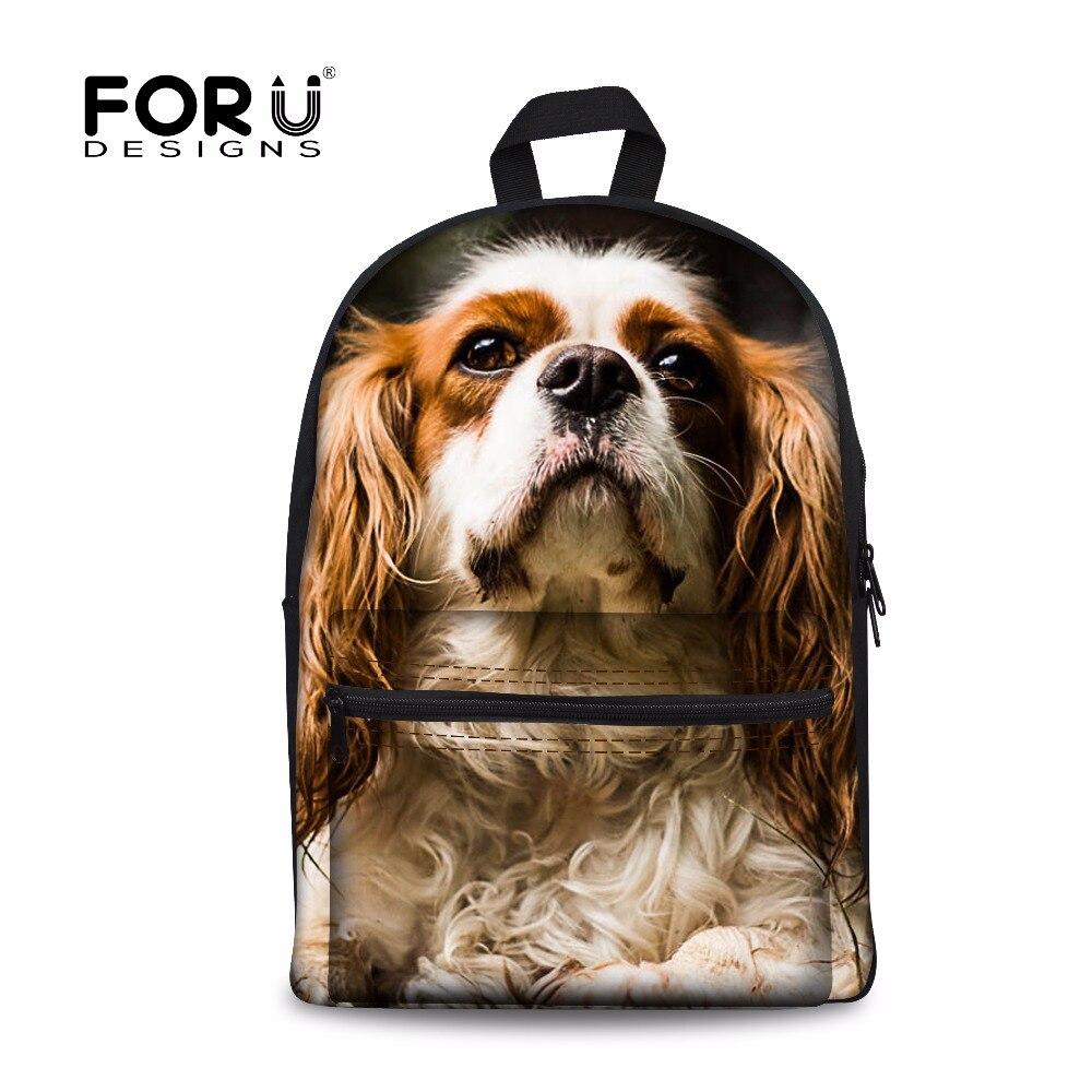 Forudesigns модная парусиновая школьная сумка для студентов Обувь для девочек 3D Чарльз собака женские плеча Школа Книга Сумки Рюкзаки Mochila Escolar