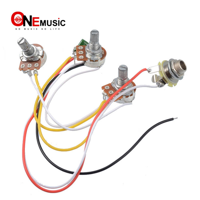 jazz bass wiring harness 2 volume 1 tone 047 cap 250k pots set injazz bass wiring harness 2 volume 1 tone 047 cap 250k pots set