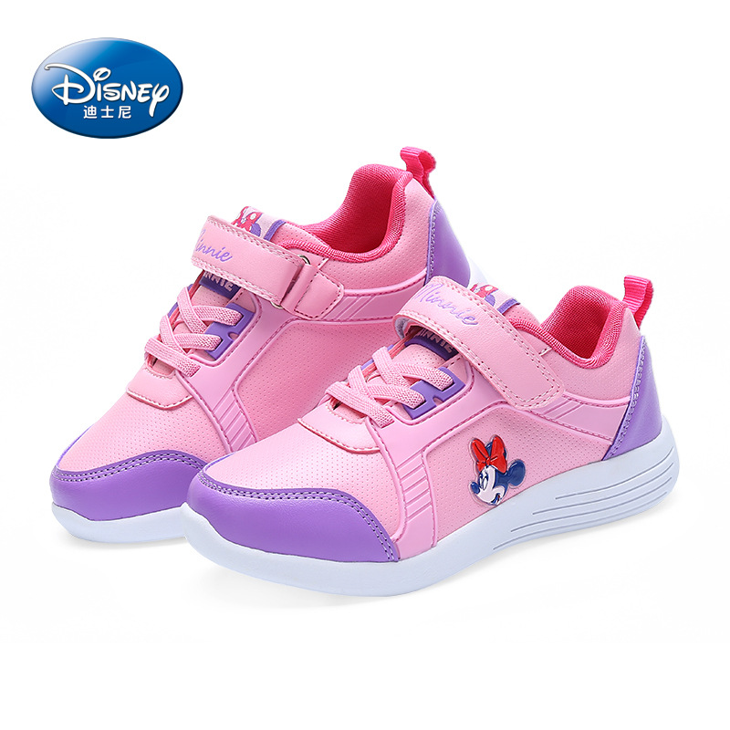 Disney cartoon Minnie children's shoes 2018 spring new non slip student shoes girls sports casual shoes Breathable size 31 37-in Sneakers from Mother & Kids    2