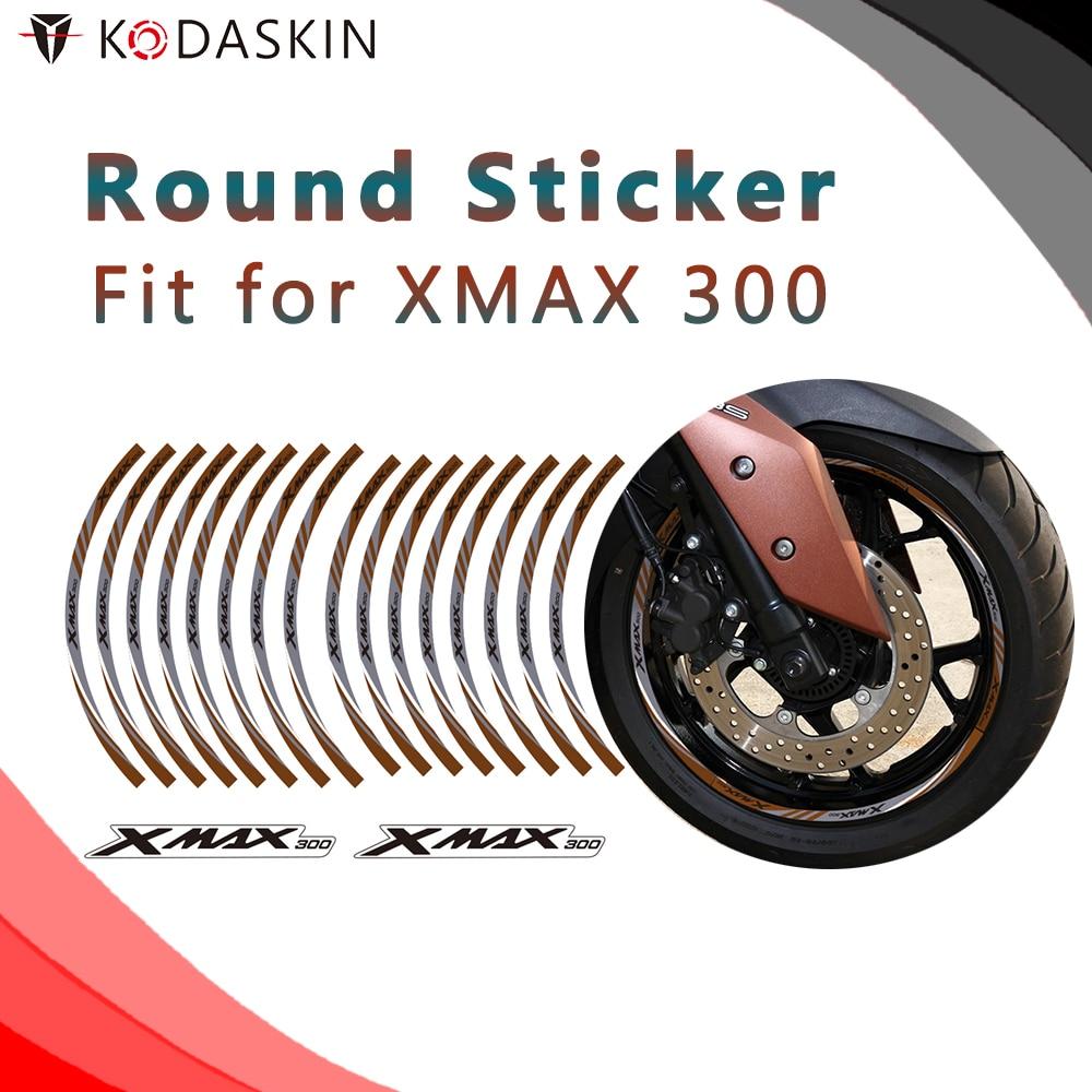 KODASKIN Motorcycle 2D Emblem Round Sticker Decal Big Wheel Rim For XMAX 300