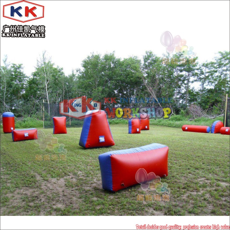 Combat Arena Inflatable Battle Obstacles Set Compatible with Nerf Laser Tag