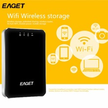 EAGET High Quality A86 Wireless High Speed WIFI Hard Disk Drives USB 3.0 1TB With 3G Router 3000mA Battery Mobile Power Bank HOT