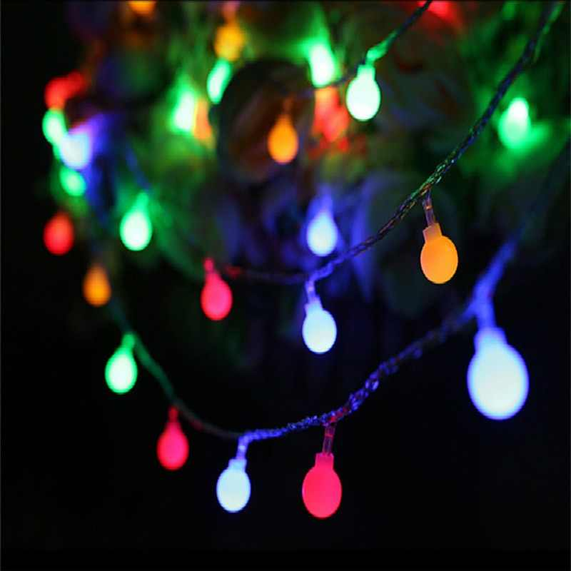 Ball lights outdoor 10M 100 LEDS Fairy Christmas Lights 220V EU/battery holiday wedding Garden Patry Decoration