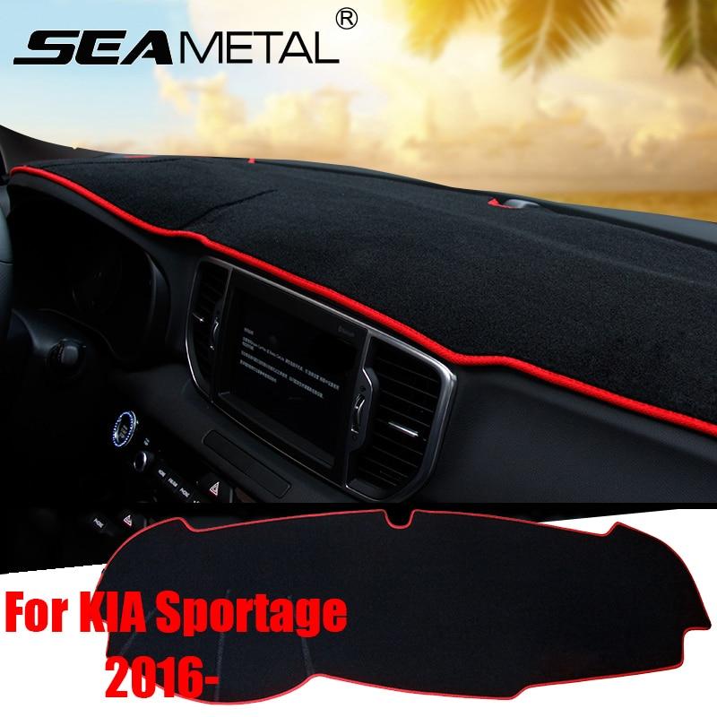 For KIA Sportage QL 2016 2017 LHD Car Anti-slide Pad Dashboard Reflective Phone Sticky Mat Trim Summer Supplies Accessories