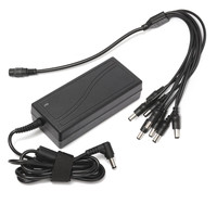 DC 12V 5A Monitor Power Adapter Power Supply 8 Way Power Splitter Cable For Camera Radios