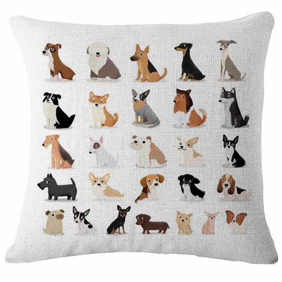 Mopsas suņu dzīvnieku taksis Ziemeļu dekoratīvie spilveni biroja - Mājas tekstils