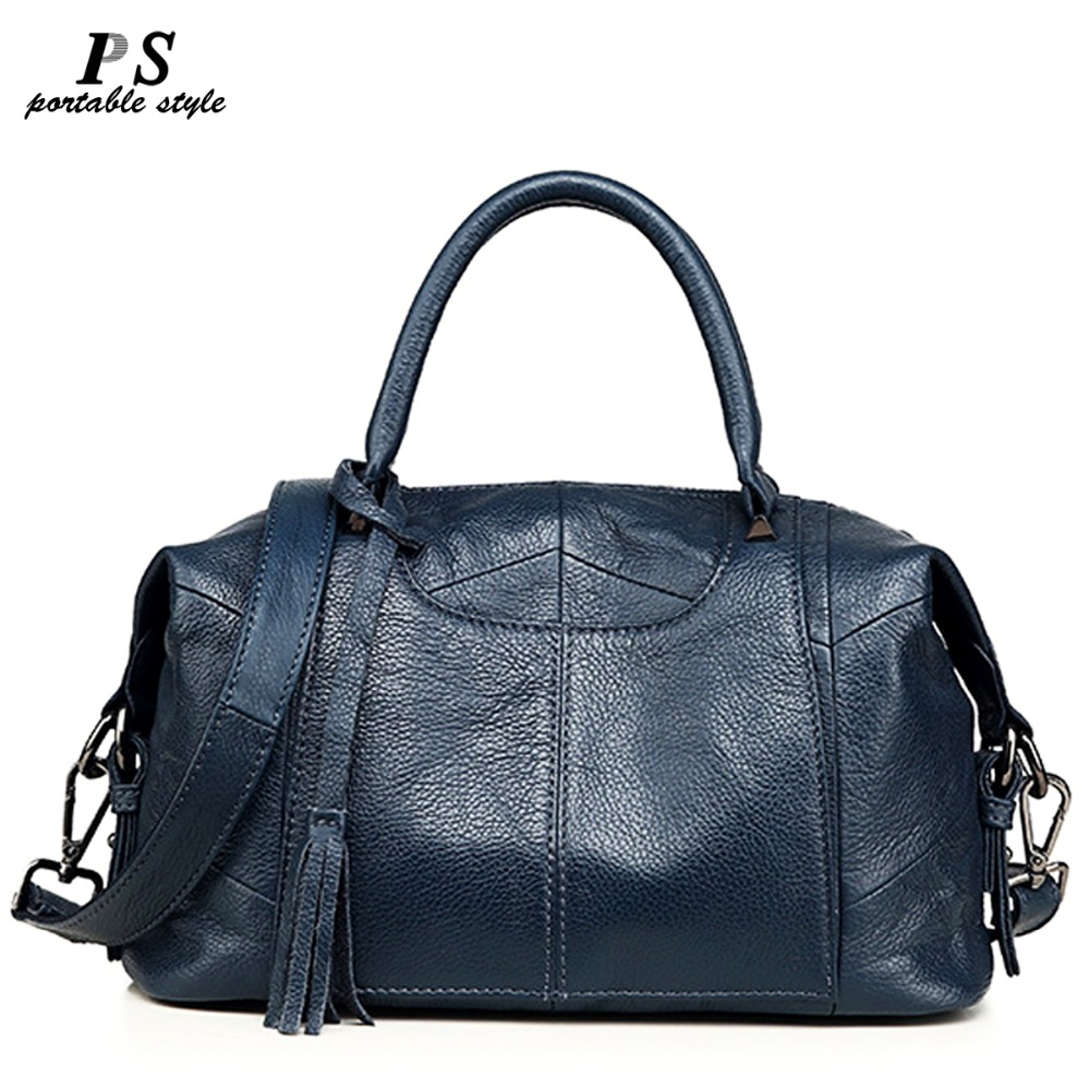New 100 Genuine Leather Bag Large Women Leather Handbags Cow Leather Women Tote Bags Big Ladies