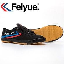 Francuskie oryginalne trampki Feiyue buty sztuki walki Taichi Taekwondo Wushu Classic Black KungFu Kobiety Mężczyźni Buty