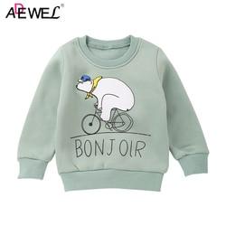 3 4 5 6 7 8 Year Kids Sweatshirts 2019 New Cartton Pattern Cute Boys Girls Sweatshirt Thick Warm Children Tops Outerwear
