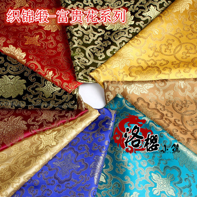 Chinese Ancient damask Costume hanfu baby clothes kimono cos clothes brocade fabric rich flowers series 90 wide