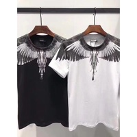 Summer Top Tees 3D brand Marcelo Burlon Slim fit T Shirts Men 1:1 High Quality Milan Feather wings Marcelo Burlon T shirt Wings