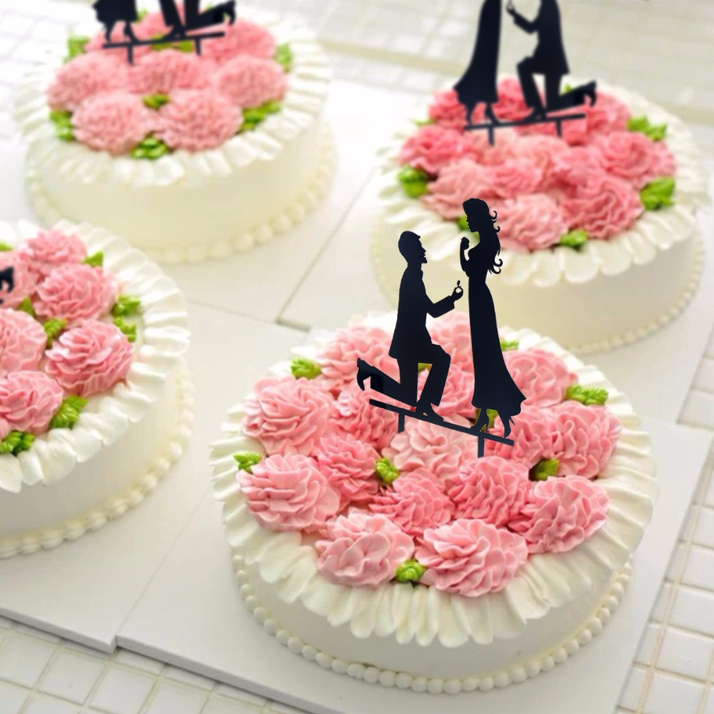 New Arrival!!! Family Bride Groom Cake Topper Silhouette Wedding ...