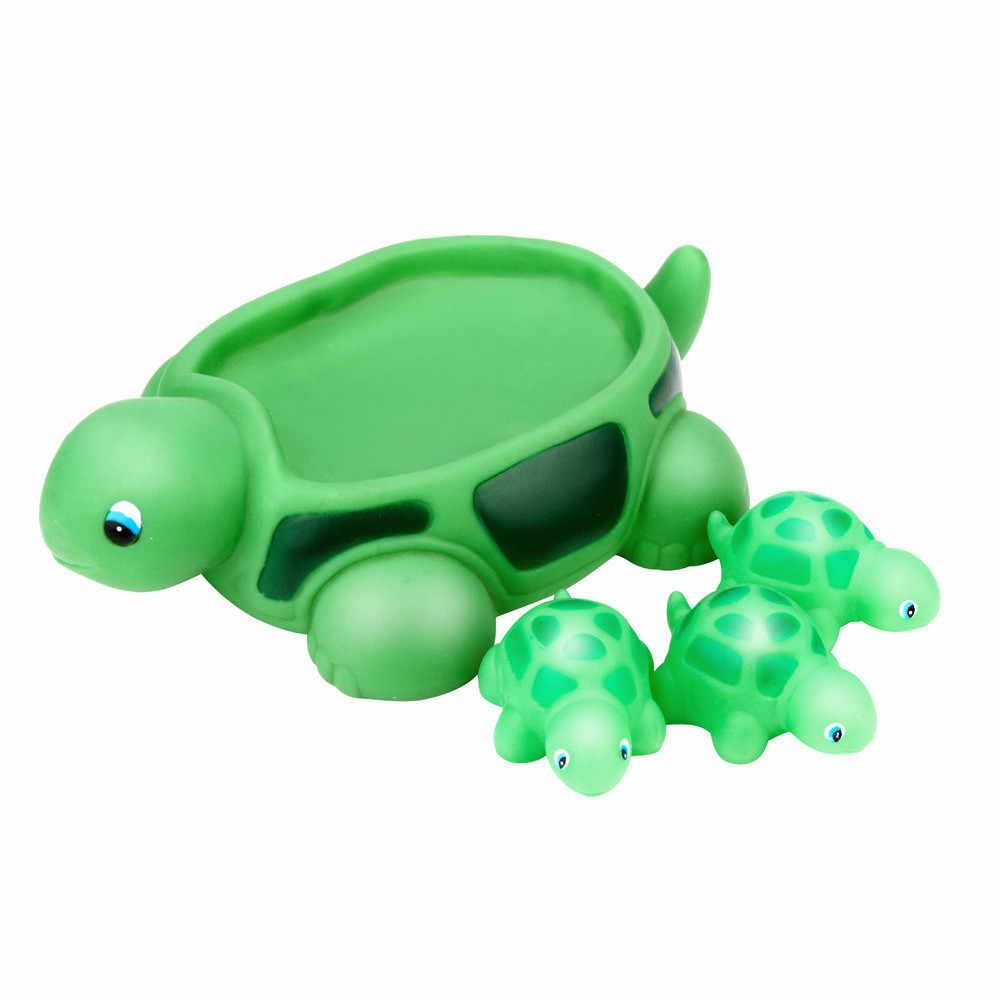4 STUKS Baby Nieuwe Bad speelgoed Snerpend Rubber Leuke Zeeschildpad Familie Bad Pals Drijvende Bad Speelgoed Voor Kinderen gift Dropshipping