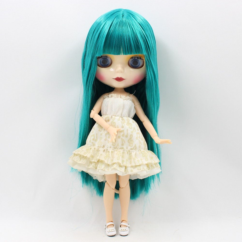 Qualified Free Shipping Blyth Doll Bl1465 Long Straight Green Hair With Bangs Joint Body 1/6 Bjd Neo Gift Toy Quality And Quantity Assured Toys & Hobbies