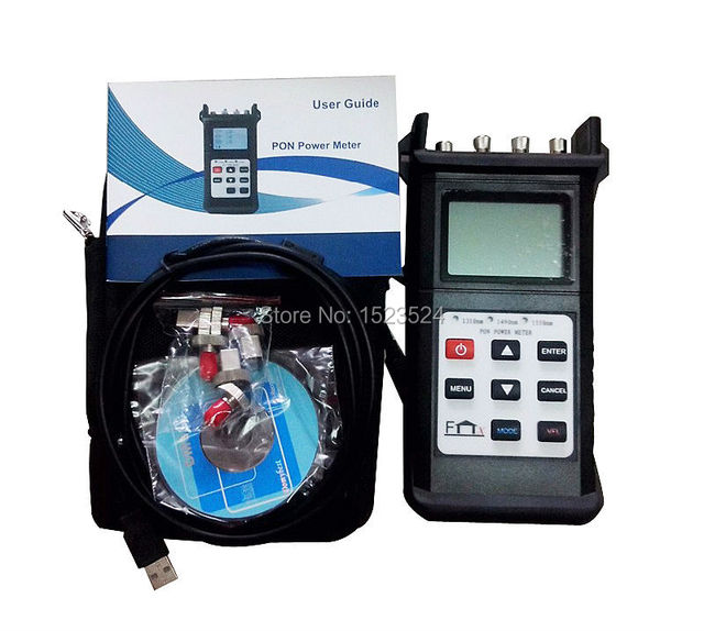 Envío gratis JW3212B BPON / EPON / GPON PON potencia óptica Meter 1310 / 1490 / 1550nm