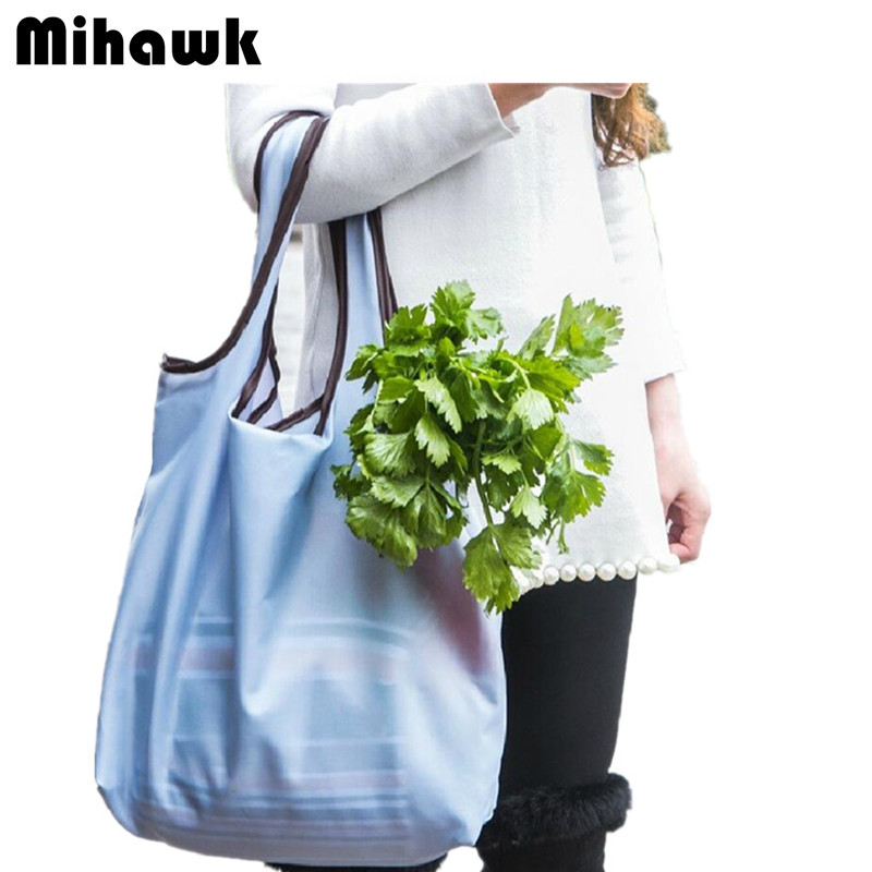 Mihawk Fashion Supermarket Shopping Bag Foldable Reusable Grocery Bags Durable Travel HandBag Storage Pouch Accessories products mihawk women s fashion animal portable handbags shoulder pouch messenger pouch storage belongings organizer accessories products