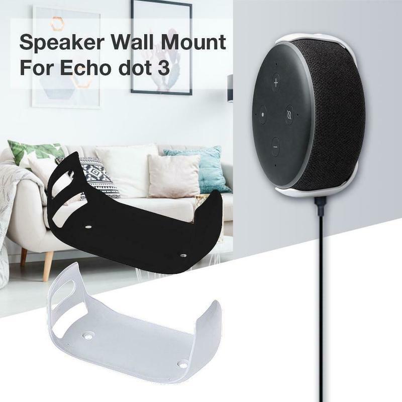 For Amazon Echo Dot 3 Wall Mount Third Generation Intelligent Audio Bracket Outlet Mount Hanger Holder For Echo Dot (3rd Gen)