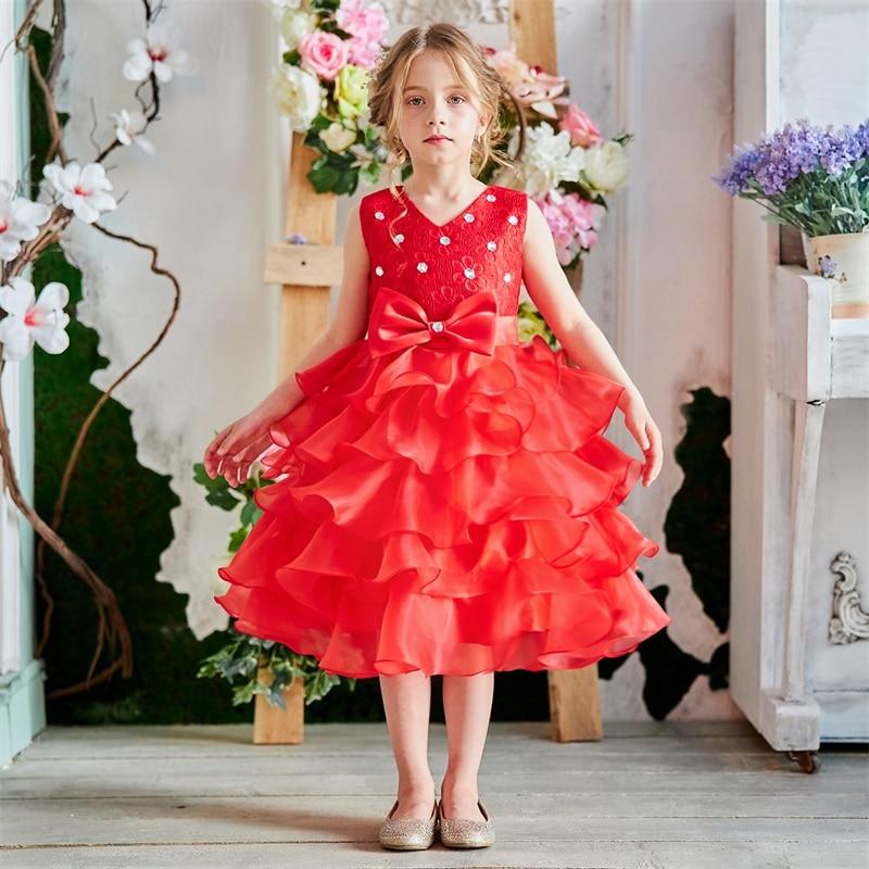 Baby Girl Frocks Dress For Girls Flower Wedding Party Dresses Toddler Kids Princess Dress Children Girl Clothing Graduation Gown 1