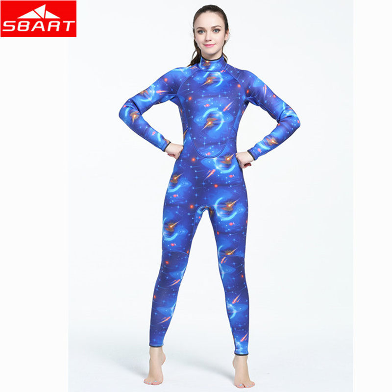 SBART 3MM Women Camouflage Neoprene Wetsuits Swimming Snorkeling Spearfishing Scuba Diving Suit Craftsm Keep Warm Diving Wetsuit sbart 3mm neoprene scuba dive wetsuit for men spearfishing wet suit surf equipment keep warm one piece diving wetsuits