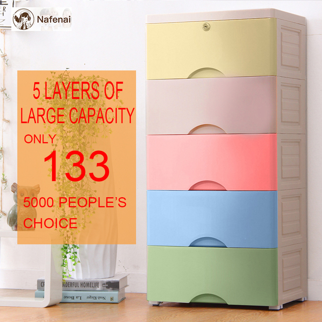 Plastic organizer drawer 5 layers drawers for clothes organizer storage box for toys drawer plastic drawer organizer in bedroom