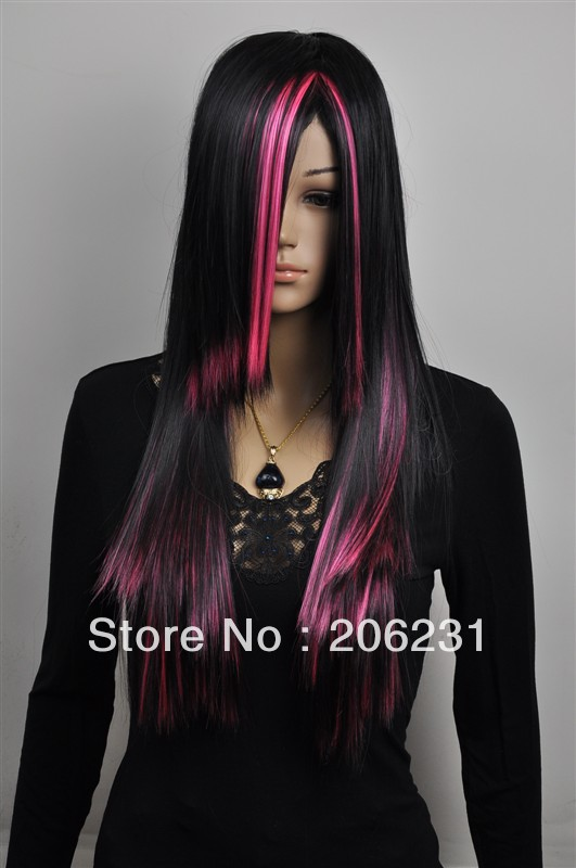 Fashionable Costume Hairstyle hair wigs Long straight ...