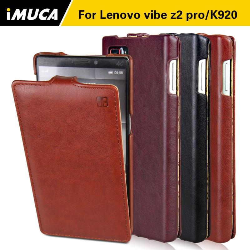 Cajas del teléfono de cuero de lujo para lenovo vibe z2 pro k920 6 pulgadas Caso