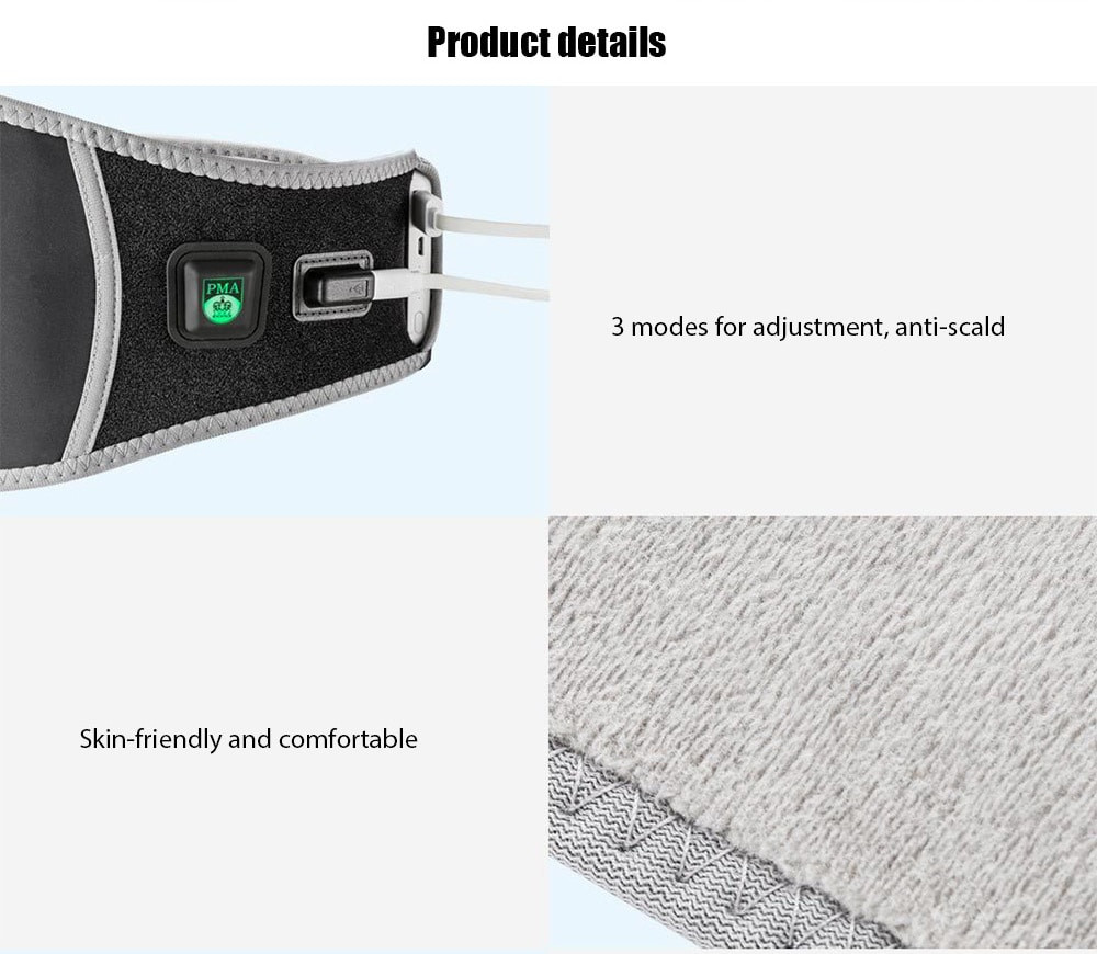 Xiaomi PMA Lumbar Beltmenstrual heating pad A10 Treatment Belt Graphene fever,Ultra-thin,Second heat technology Anti-scald (18)