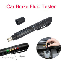 Brake Fluid Tester LED Moisture Water Compact Tool DOT3 4 Test Indicator Pen