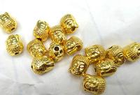 50pcs 8 12mm 14K Real Solid Gold Seamless Skeleton Beads Skull Solid Brass Bead Brass Spacer