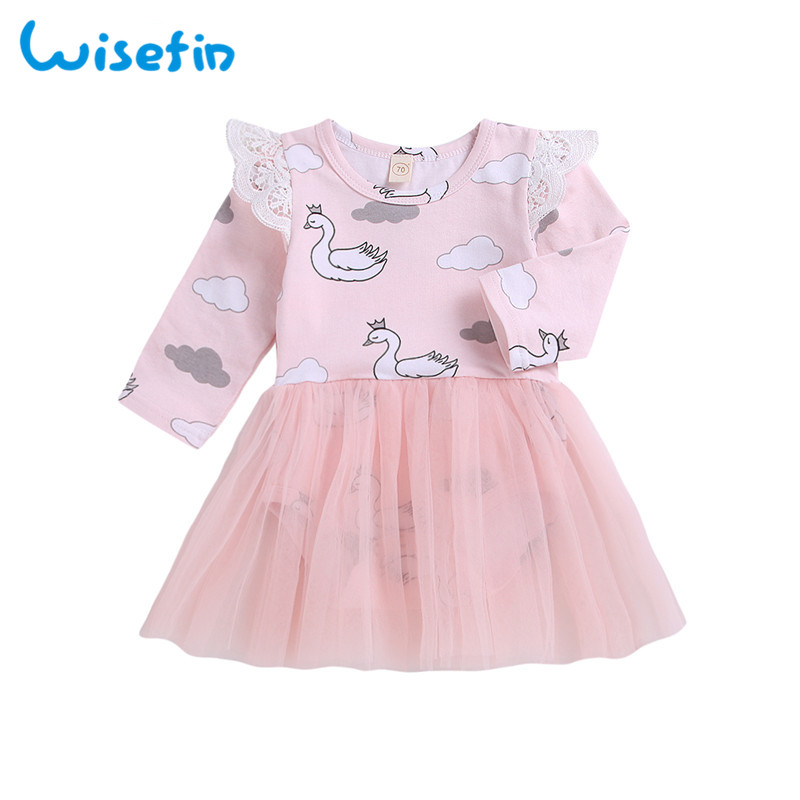 07d5b518d615 ... Wisefin Swan Newborn Girl Dresses Fall Winter 0-3 Month Long Sleeve  Pink Princess Baby Dresses Tulle Lace Infant Baby Girl Dress. -23%. Click  to enlarge