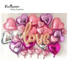 Script Love Foil Balloons Kit Tema d'amore Matrimonio Camera Decor Addio al nubilato Idee Proporre Decorazione di matrimoni Addio al nubilato