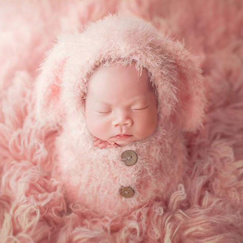 Photography Accessories Baby Boy Girl Sleeping Bag Kids Bebe Knitting Infantil Bebes Newborn Props Hand Made Photoshot Clothes