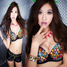 2018 New Fashion Shiny Sexy Bra Nightclub Beading Crystal Bra Cotton Belly Dancing DS Costume Stage Dance Wear for Women