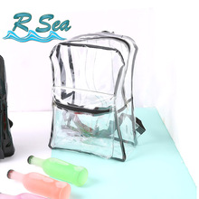 Shopping Bag Backpack women Transparent Backpacks clear waterproof Girls beach Daypack Female party gril Travel bag