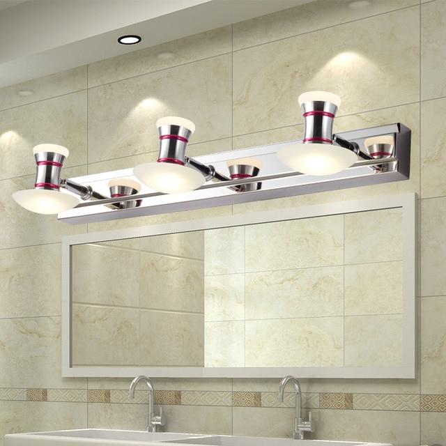 Modern 6W/9W Led Bathroom Wall Lamp Mushroom Acrylic Lampshade Mirror Light Metal Sconce Decoration Fixture 110-240V