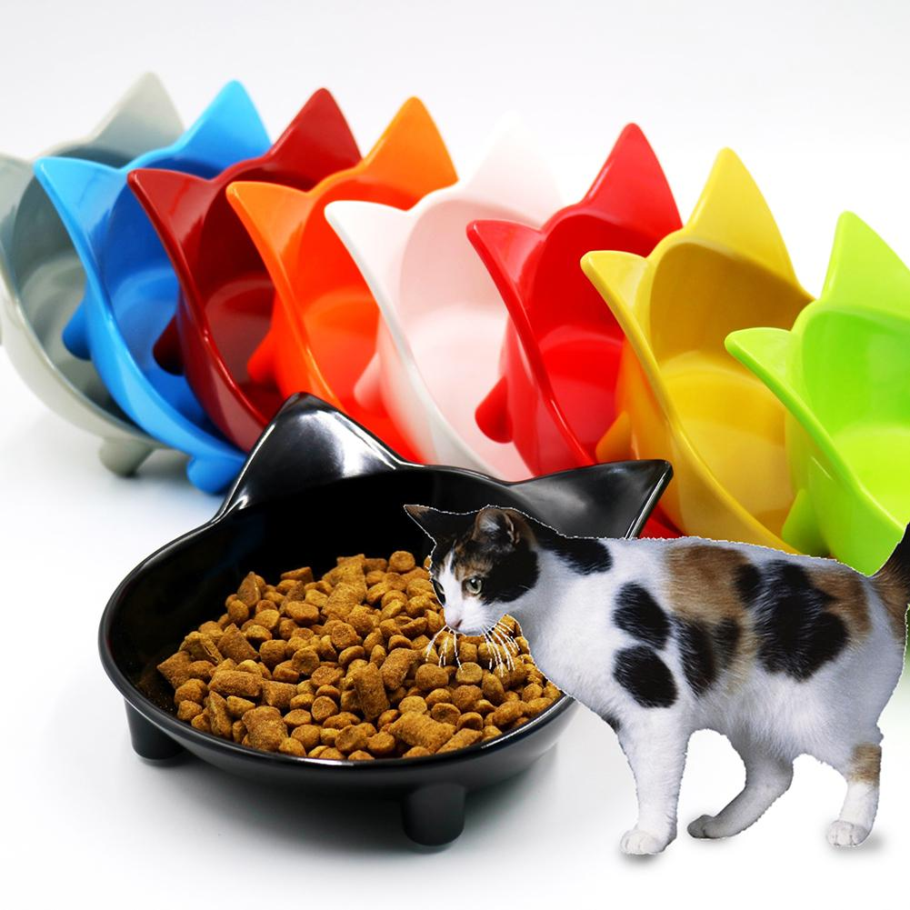 Lovely Cat Shape Cat Bowls Anti slip Melamine Pet Dog Puppy Kitten Food Feeding Bowl Pet Supplies New in Cat Feeding Watering Supplies from Home Garden
