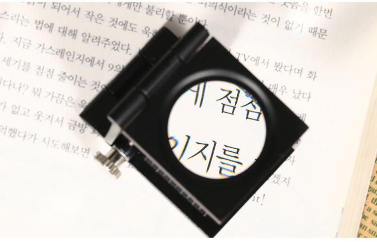10x fém íróasztal 2 LED-es nagyító optikai lencsével fekete - Mérőműszerek - Fénykép 2