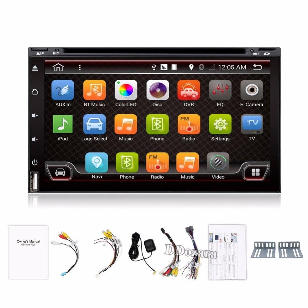 Quad Core Car Electronic autoradio 2din android 7.1 car dvd player stereo GPS Navigation WIFI+Bluetooth+Radio+3G+TV (Option)