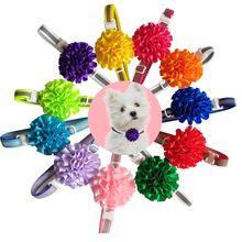 50 Uds. Reflectante para gatos y mascotas de Collar, pequeños suministros para perros, mascotas, lazo de adorno redondo para perros, corbatas para cachorros, gatos, accesorios de Navidad