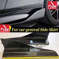 Universal Carbon Fiber Side Skirt Bumper body kits Fits For PEUGEOT 308CC 2 Door Coupe Side Skirt Splitters Flaps 57CM E Style