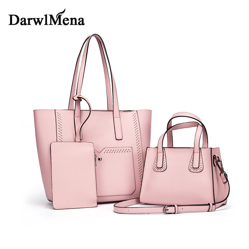 Women font b Handbags b font Bag Retro Women Messenger Bags PU Leather Composite Bags Bolsa