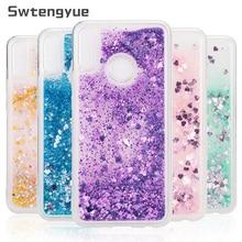For Huawei Honor 8X 8C 9 lite case Dynamic Liquid Glitter Bling Sand Soft TPU Phone P20 P30 cover