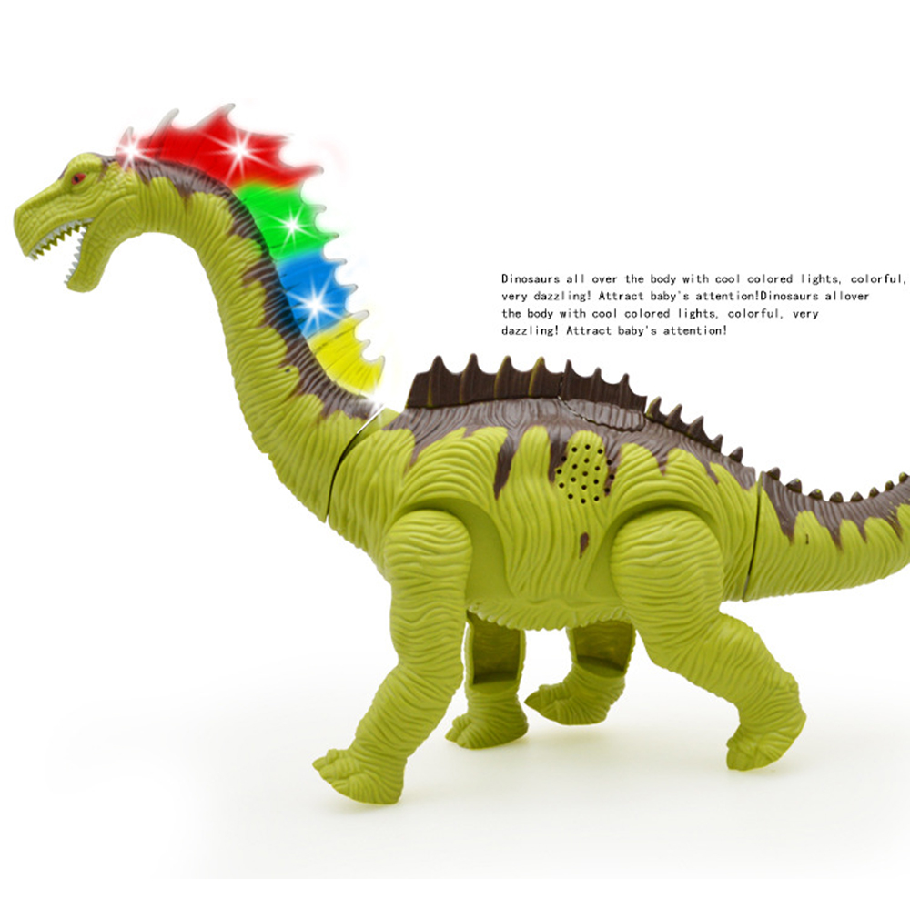 Электрический ходячий динозавр моделирование динозавр светящиеся динозавры игрушка-динозавр Большая Электрическая пластиковая светящаяся Интерактивная модель