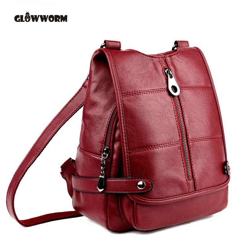 Backpack Mochila Feminina Mochilas Women Bag School Bags Genuine Leather Backpacks Travel Bagpack Mochilas Mujer 2017 Sac a Dos new 2018 women backpack leather rivet bag ladies shoulder bags girls school book bag black backpacks mochila bagpack 3 pcs sets